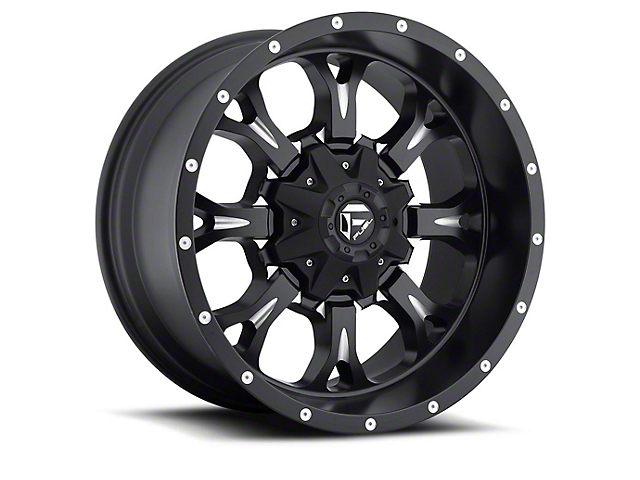 Fuel Wheels Krank Black Milled Wheel - 20x12 (97-06 Jeep Wrangler TJ)