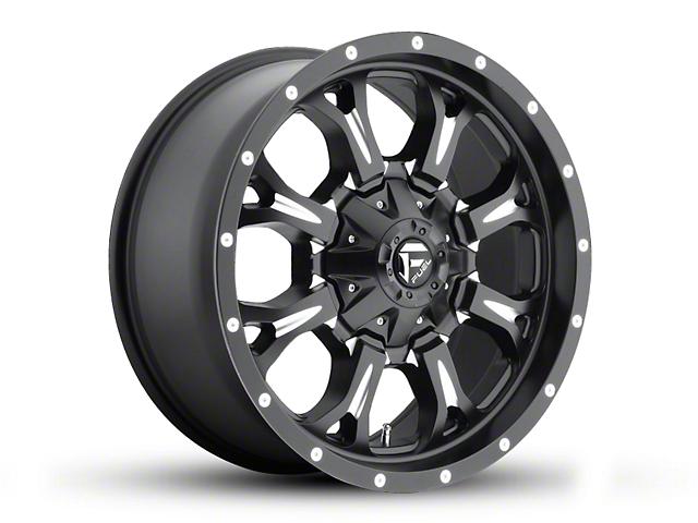 Fuel Wheels Krank Black Milled Wheel - 20x9 (97-06 Jeep Wrangler TJ)