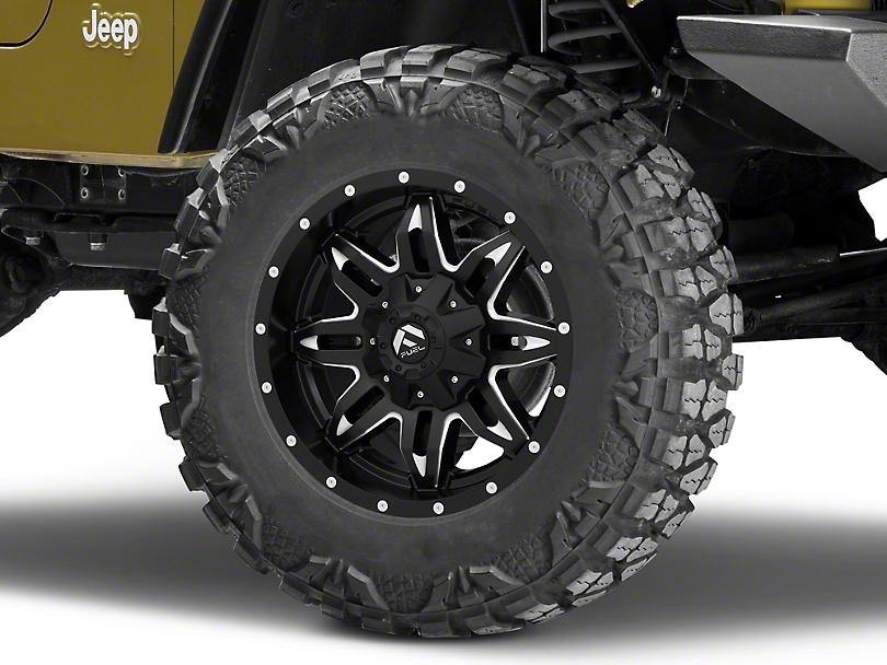 Fuel Wheels Lethal Black Milled Wheel - 18x9 (87-06 Jeep Wrangler YJ & TJ)