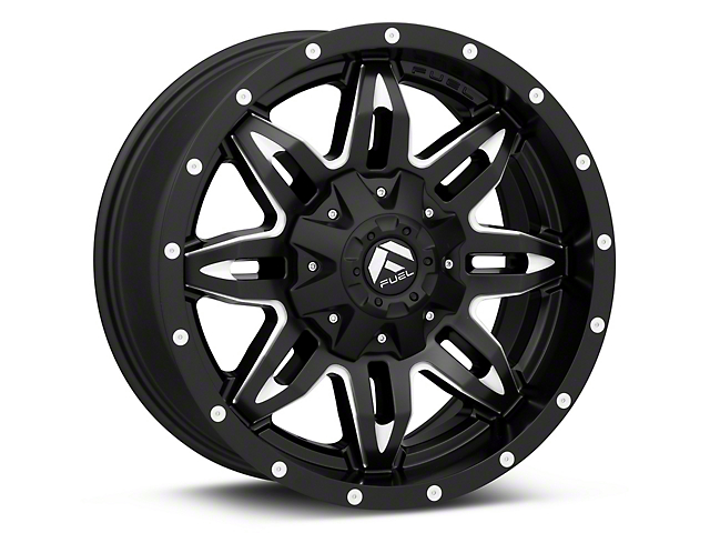 Fuel Wheels Lethal Black Milled Wheel - 18x9 (97-06 Jeep Wrangler TJ)