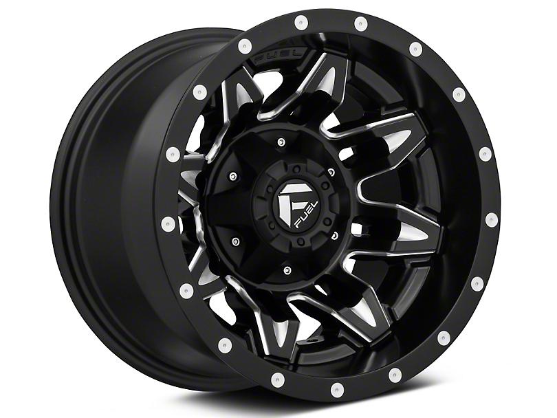 Fuel Wheels Lethal Matte Black Milled Wheel - 20x9 (97-06 Jeep Wrangler TJ)