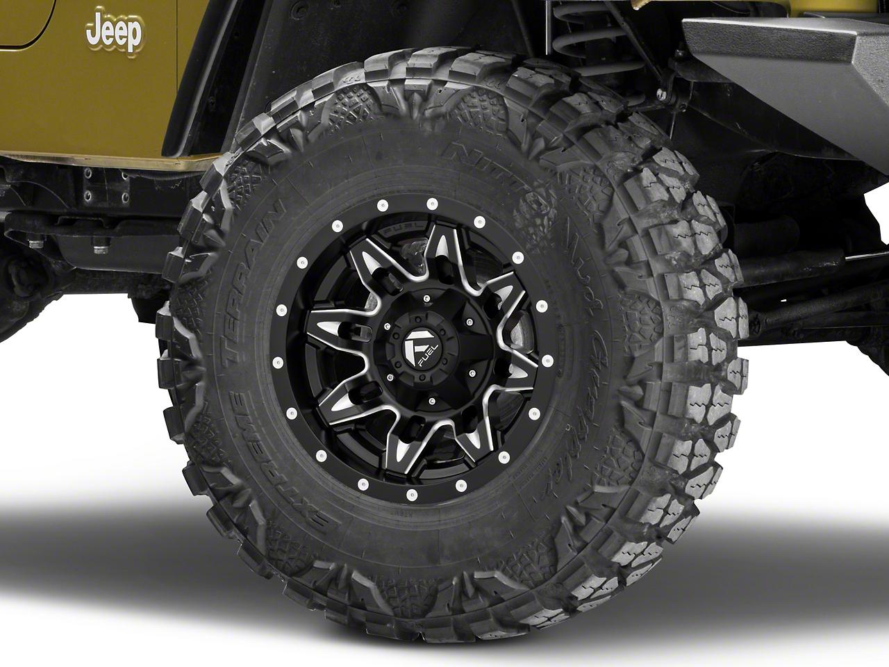 Fuel Wheels Lethal Black Milled Wheel - 15x8 (87-06 Wrangler YJ & TJ)