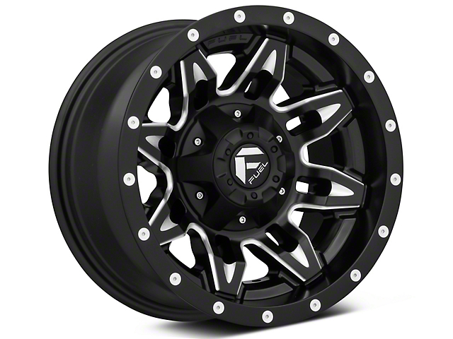 Fuel Wheels Lethal Matte Black Milled Wheel; 15x8 (87-95 Jeep Wrangler YJ)