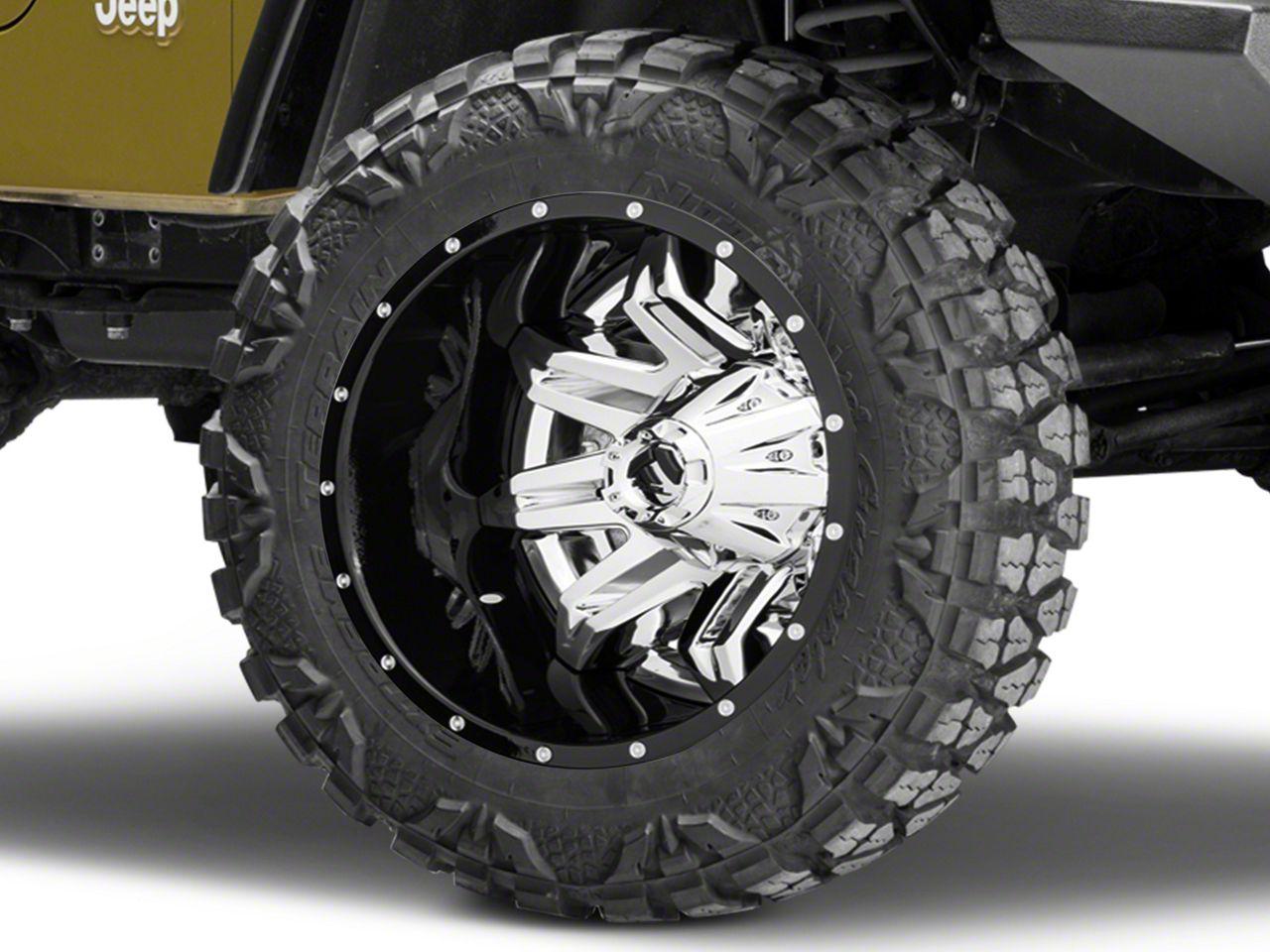 fuel wheels jeep wrangler lethal chrome wheel 20x10 d26620002647 Jeep Wrangler TJ Interior fuel wheels lethal chrome wheel 20x10 87 06 jeep wrangler yj tj