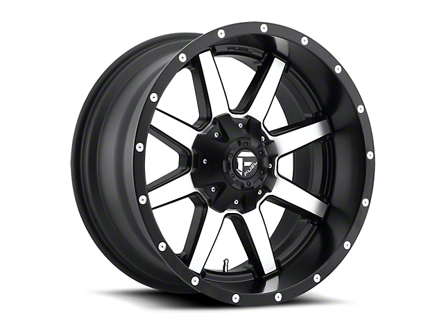 Fuel Wheels Maverick Black Machined Wheel - 18x12 (87-06 Jeep Wrangler YJ & TJ)