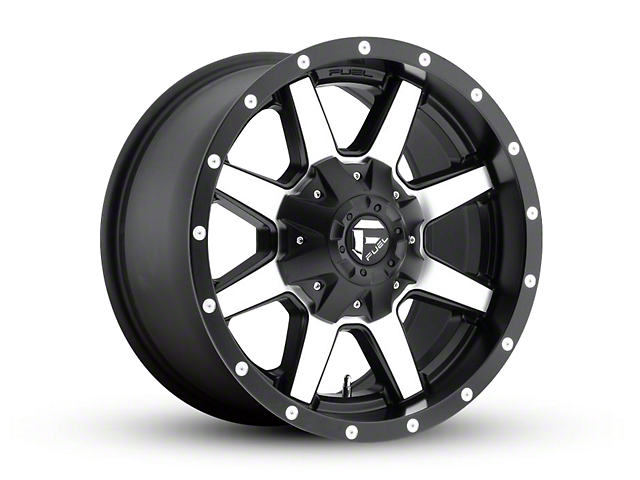 Fuel Wheels Maverick Black Machined Wheel - 18x9 (97-06 Jeep Wrangler TJ)