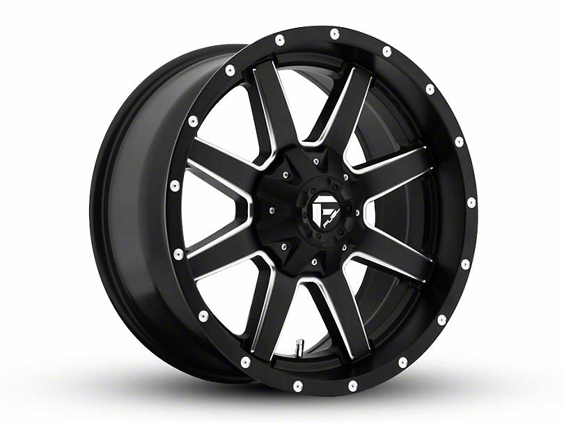 Fuel Wheels Maverick Black Milled Wheel - 20x9 (97-06 Jeep Wrangler TJ)