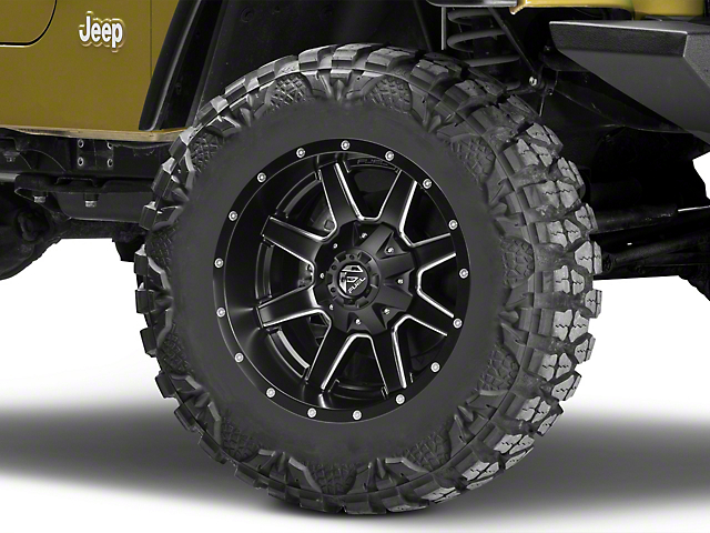 Fuel Wheels Maverick Black Milled Wheel - 18x9 (87-06 Jeep Wrangler YJ & TJ)