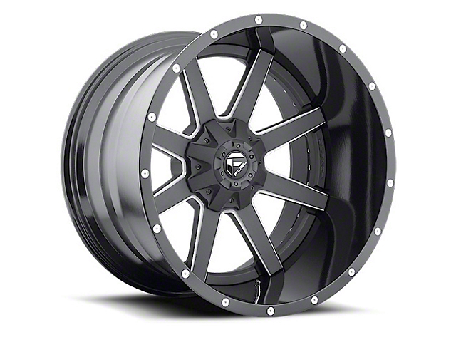 Fuel Wheels Maverick Black Milled Wheel - 20x12 (87-06 Jeep Wrangler YJ & TJ)