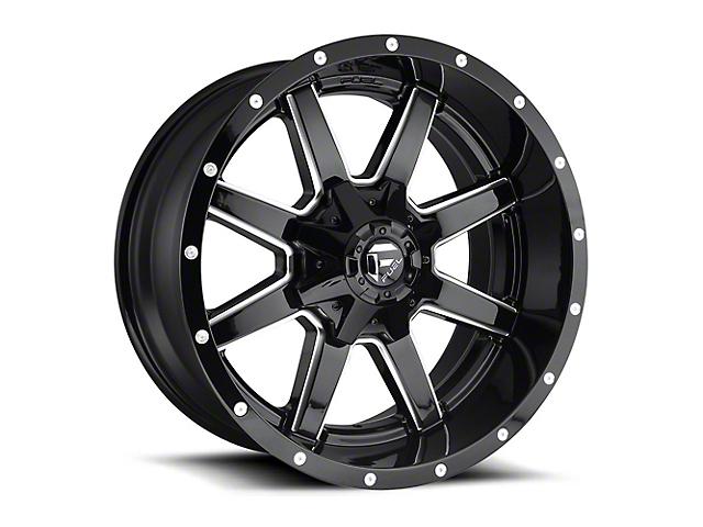 Fuel Wheels Maverick Gloss Black Milled Wheel - 20x12 (97-06 Jeep Wrangler TJ)
