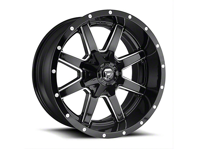 Fuel Wheels Maverick Gloss Black Milled Wheel - 22x12 (97-06 Jeep Wrangler TJ)