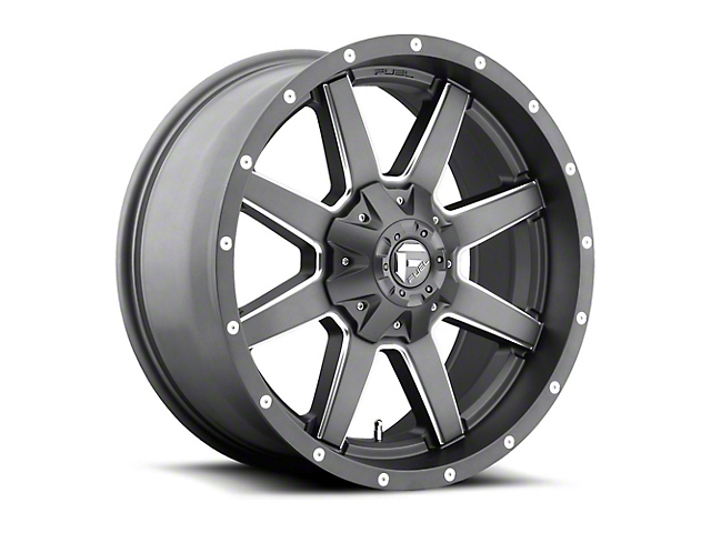 Fuel Wheels Maverick Gun Metal Wheel - 20x10 (87-06 Jeep Wrangler YJ & TJ)
