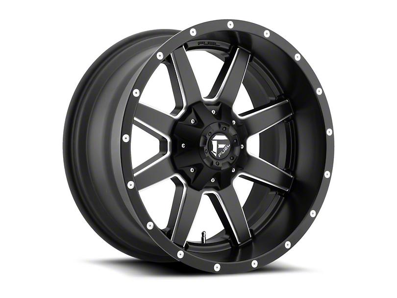Fuel Wheels Maverick Matte Black Milled Wheel - 20x12 (97-06 Jeep Wrangler TJ)