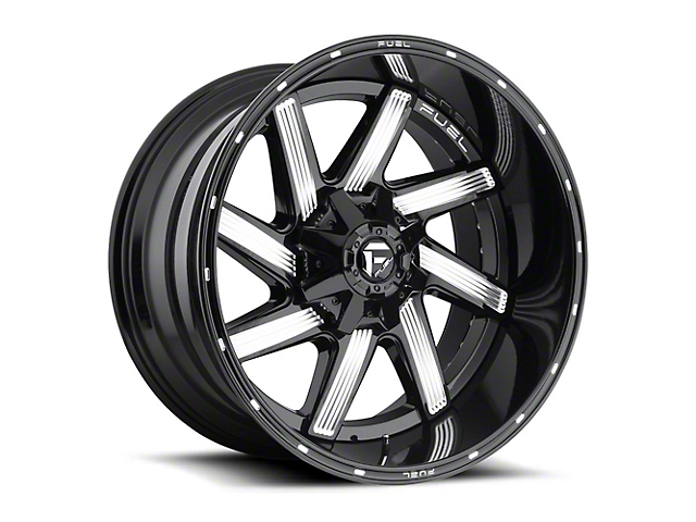 Fuel Wheels Moab Gloss Black Milled Wheel - 20x10 (87-06 Jeep Wrangler YJ & TJ)
