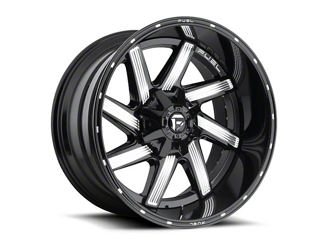 Fuel Wheels Moab Gloss Black Milled Wheel - 20x12 (87-06 Jeep Wrangler YJ & TJ)