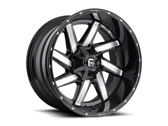 Fuel Wheels Moab Gloss Black Milled Wheel - 22x10 (87-06 Jeep Wrangler YJ & TJ)