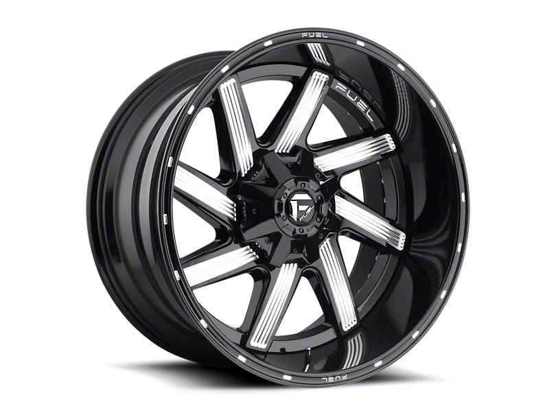 Fuel Wheels Moab Gloss Black Milled Wheel - 22x12 (87-06 Jeep Wrangler YJ & TJ)