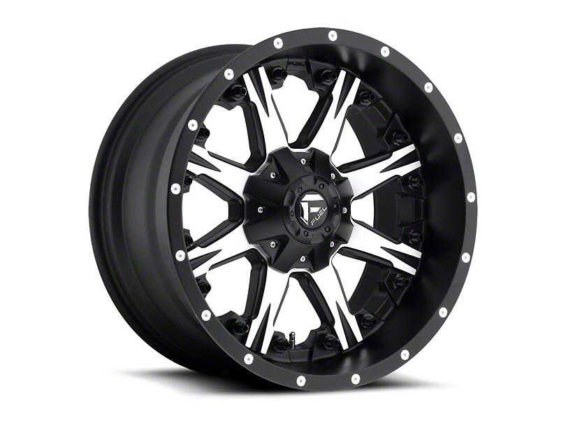 Fuel Wheels NUTZ Black Machined Wheel - 20x10 (97-06 Jeep Wrangler TJ)