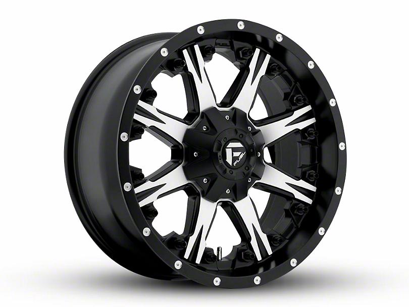 Fuel Wheels NUTZ Black Machined Wheel - 20x9 (97-06 Jeep Wrangler TJ)