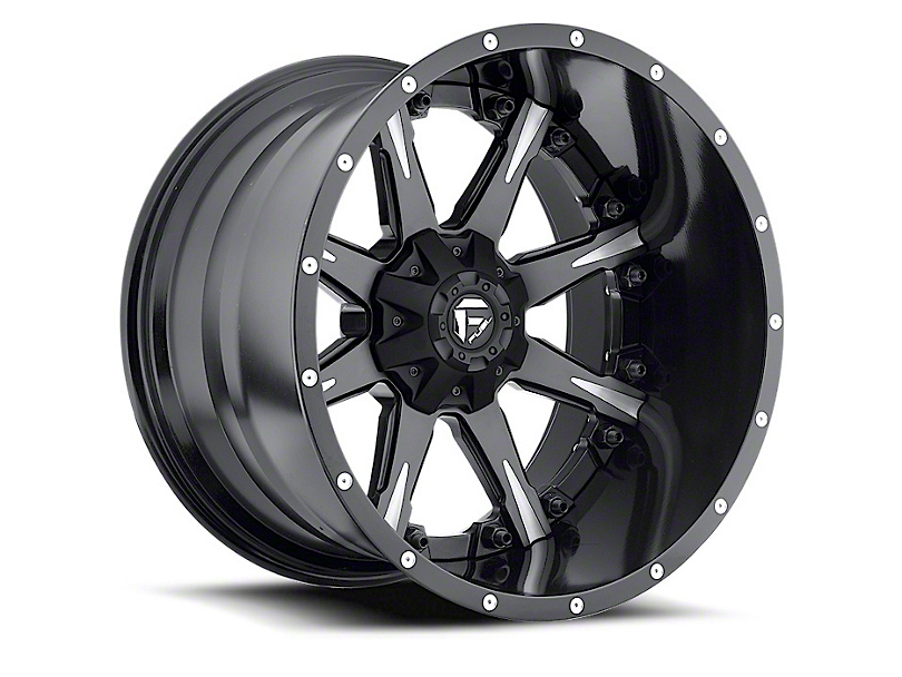 Fuel Wheels NUTZ Black Milled Wheel - 20x12 (87-06 Jeep Wrangler YJ & TJ)