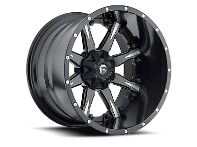 Fuel Wheels NUTZ Black Milled Wheel - 20x12 (87-06 Wrangler YJ & TJ)