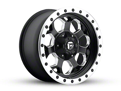 Fuel Wheels Savage Black Milled Wheel - 17x8.5 (87-06 Wrangler YJ & TJ)