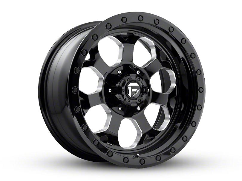 Fuel Wheels Savage Black Milled Wheel - 18x9 (87-06 Jeep Wrangler YJ & TJ)