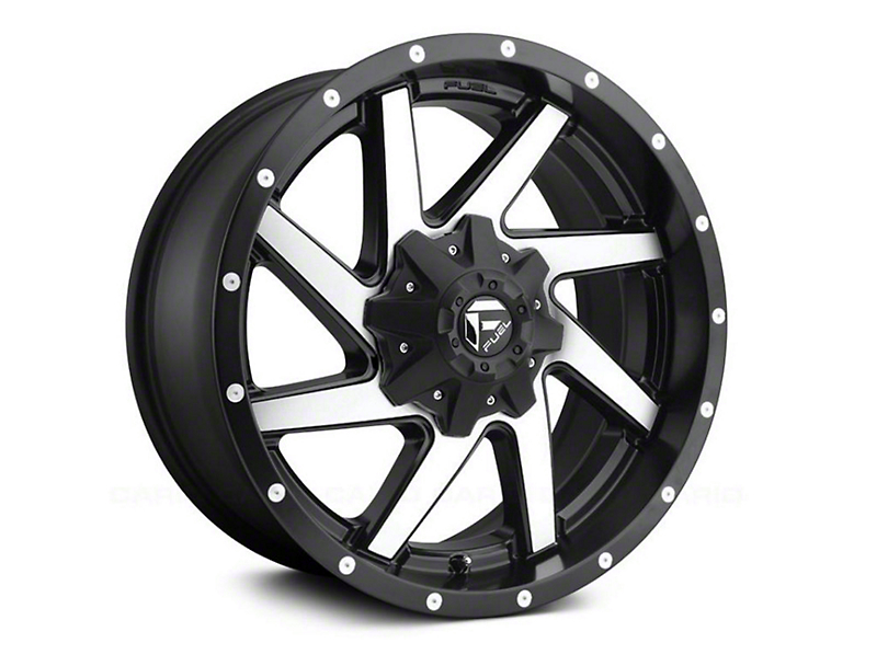 Fuel Wheels Renegade Black Machined Wheel - 20x9 (97-06 Jeep Wrangler TJ)