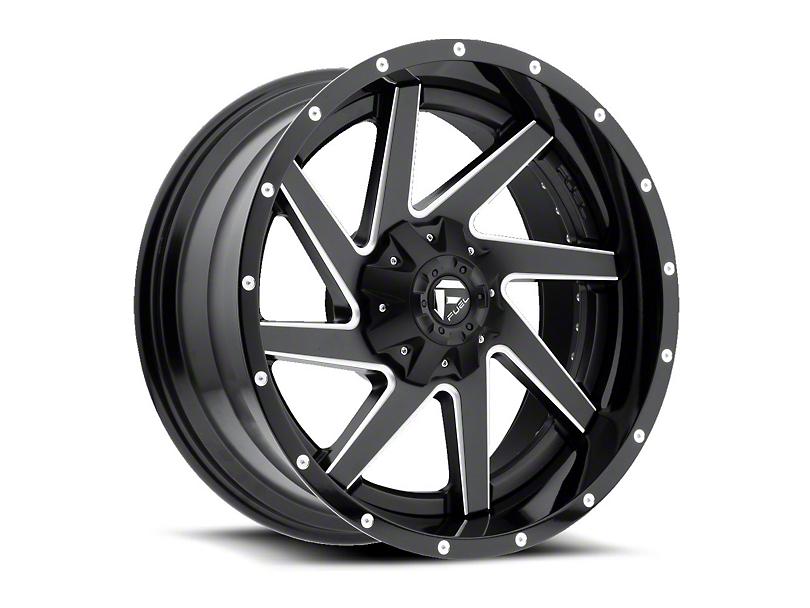 Fuel Wheels Renegade Black Milled Wheel - 20x12 (97-06 Jeep Wrangler TJ)