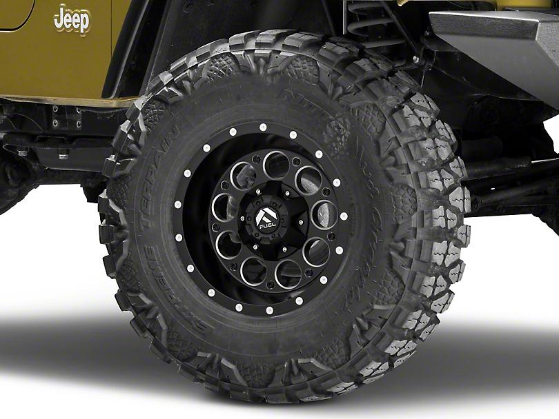 Fuel Wheels Revolver Black Milled Wheel - 15x8 (87-06 Jeep Wrangler YJ & TJ)