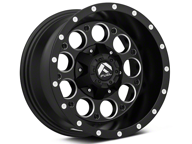 Fuel Wheels Revolver Matte Black Milled Wheel; 15x8 (87-95 Jeep Wrangler YJ)