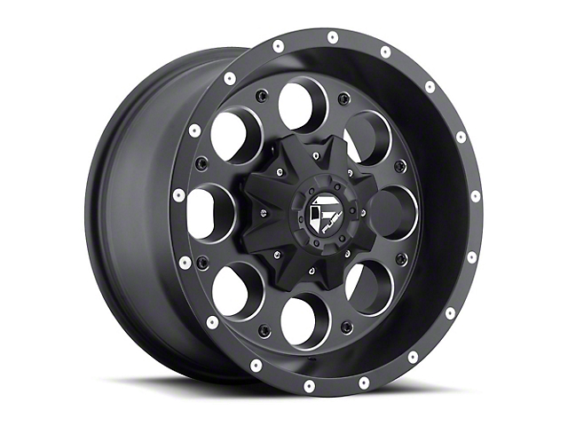 Fuel Wheels Revolver Black Milled Wheel - 16x8 (87-95 Jeep Wrangler YJ)