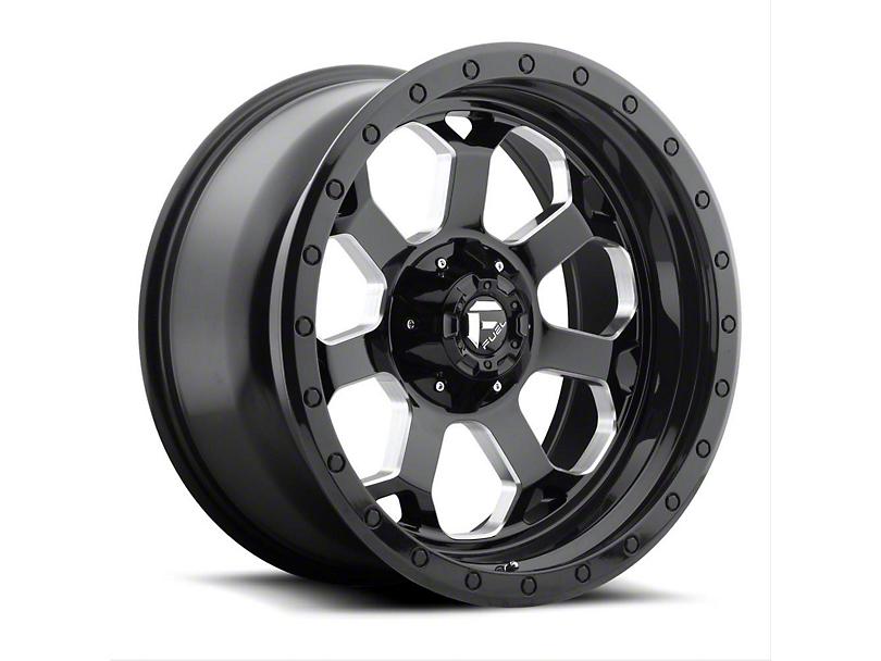 Fuel Wheels Savage Black Milled Wheel - 20x9 (87-06 Jeep Wrangler YJ & TJ)