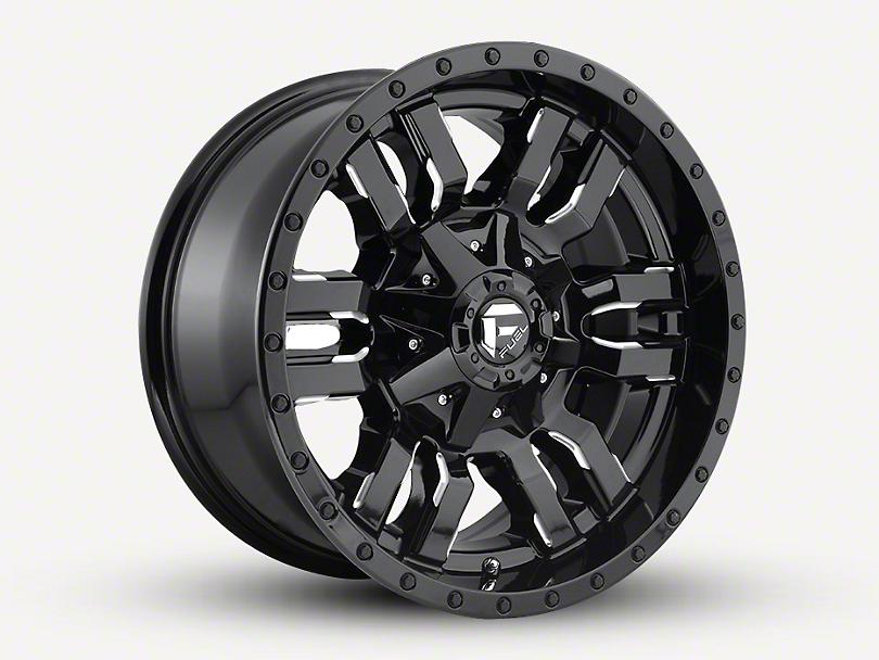 Fuel Wheels Sledge Gloss Black Milled Wheel - 18x9 (97-06 Jeep Wrangler TJ)