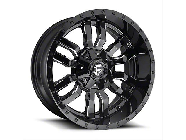 Fuel Wheels Sledge Gloss Black Milled Wheel - 20x10 (97-06 Jeep Wrangler TJ)