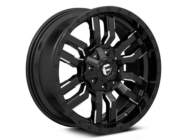 Fuel Wheels Sledge Gloss Black Milled Wheel - 20x9 (97-06 Jeep Wrangler TJ)