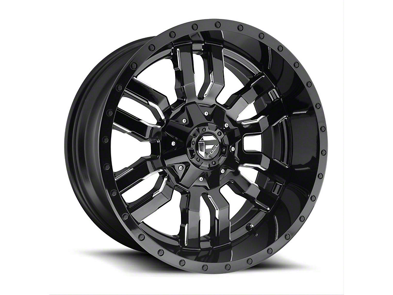 Fuel Wheels Sledge Gloss Black Milled Wheel - 22x12 (97-06 Jeep Wrangler TJ)