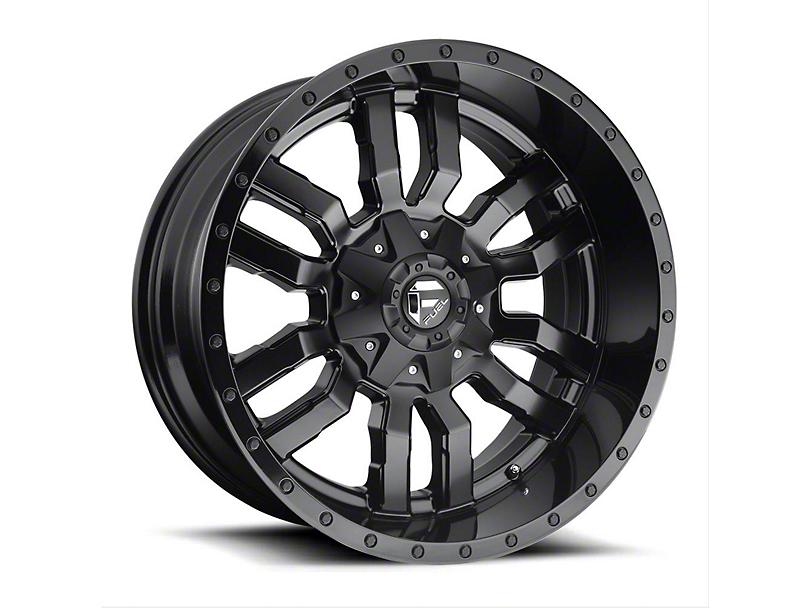 Fuel Wheels Sledge Gloss & Matte Black Wheel - 20x12 (97-06 Jeep Wrangler TJ)