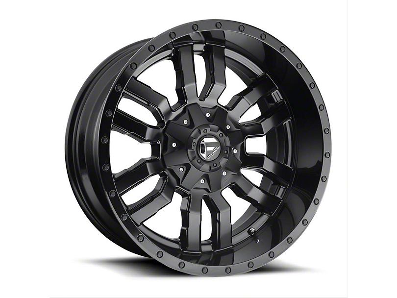 Fuel Wheels Sledge Gloss & Matte Black Wheel - 22x12 (97-06 Jeep Wrangler TJ)