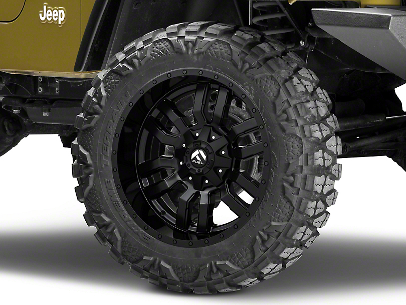 Fuel Wheels Sledge Matte Black Wheel - 20x10 (87-06 Jeep Wrangler YJ & TJ)