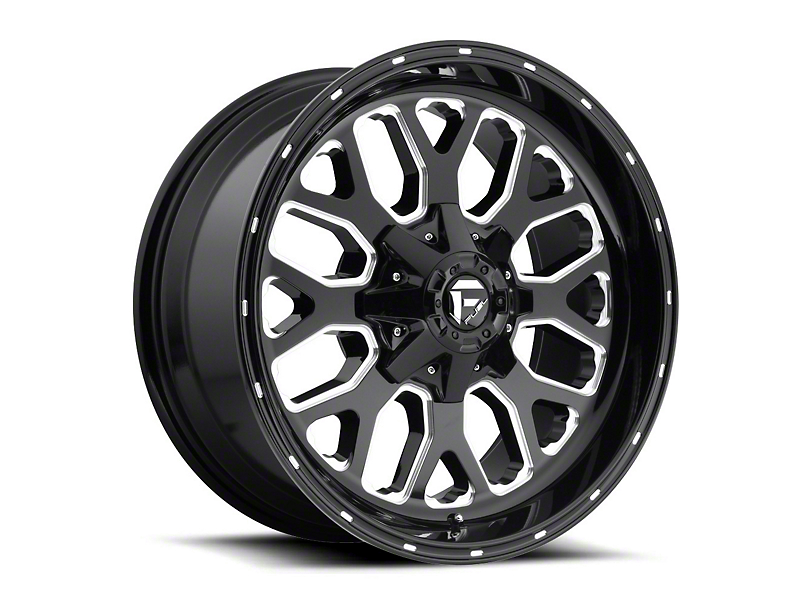 Fuel Wheels Titan Black Milled Wheel - 20x9 (97-06 Jeep Wrangler TJ)