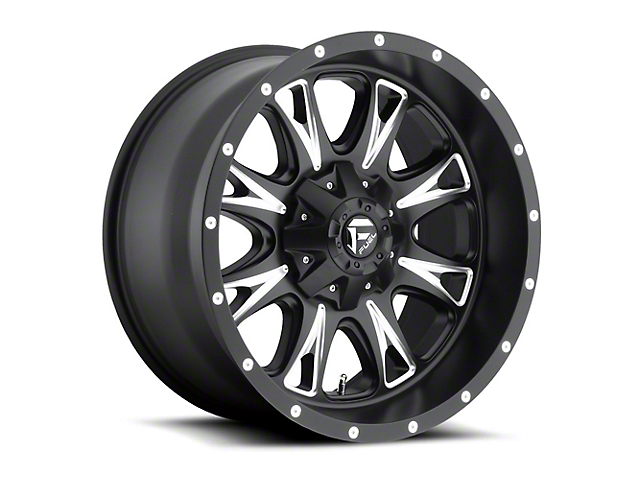 Fuel Wheels Throttle Black Milled Wheel - 20x12 (97-06 Jeep Wrangler TJ)