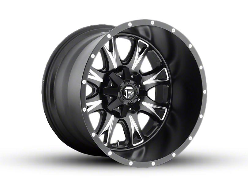 Fuel Wheels Throttle Matte Black Milled Wheel; 22x14 (97-06 Jeep Wrangler TJ)