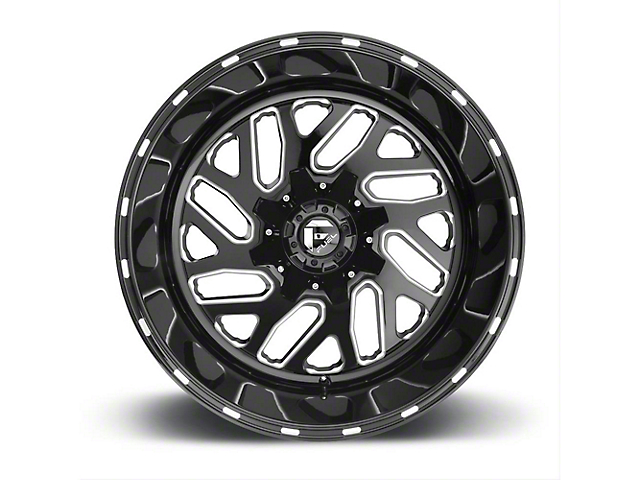 Fuel Wheels Titan Black Milled Wheel - 20x10 (87-06 Jeep Wrangler YJ & TJ)