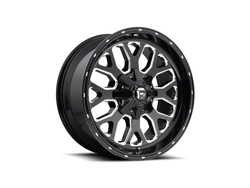 Fuel Wheels Titan Gloss Black Milled Wheel - 22x10 (97-06 Jeep Wrangler TJ)