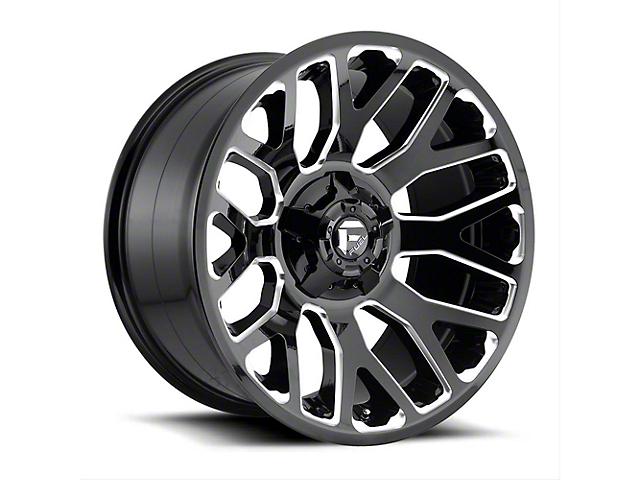 Fuel Wheels Titan II Gloss Black Milled Wheel - 20x10 (97-06 Jeep Wrangler TJ)