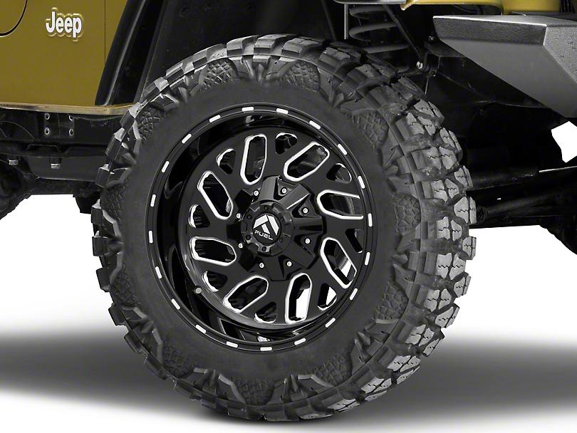 Fuel Wheels Triton Gloss Black Milled Wheel - 22x12 (87-06 Jeep Wrangler YJ & TJ)