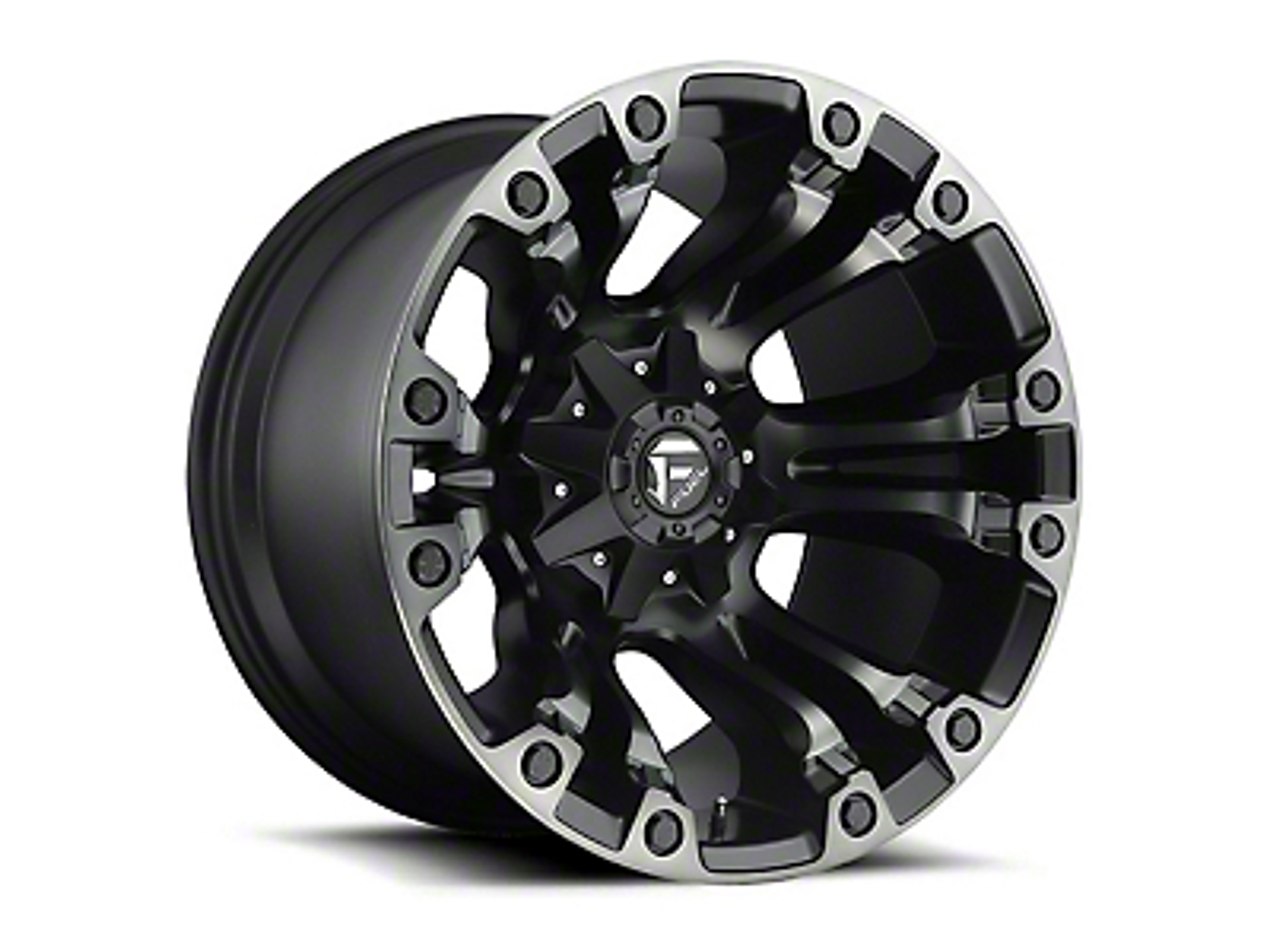 Fuel Wheels Vapor Matte Black Machined Wheel - 15x8 (87-06 Wrangler YJ & TJ)