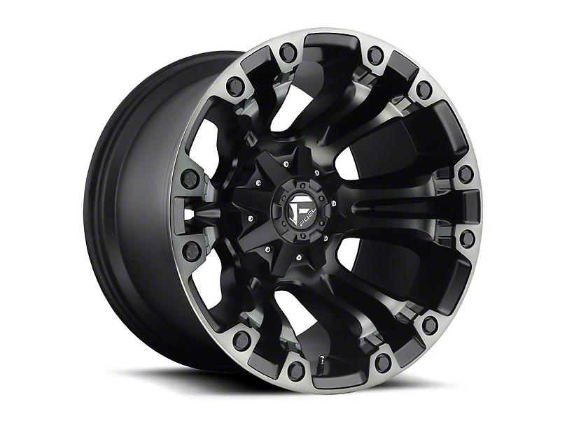 Fuel Wheels Vapor Matte Black Machined Wheel - 20x12 (97-06 Jeep Wrangler TJ)