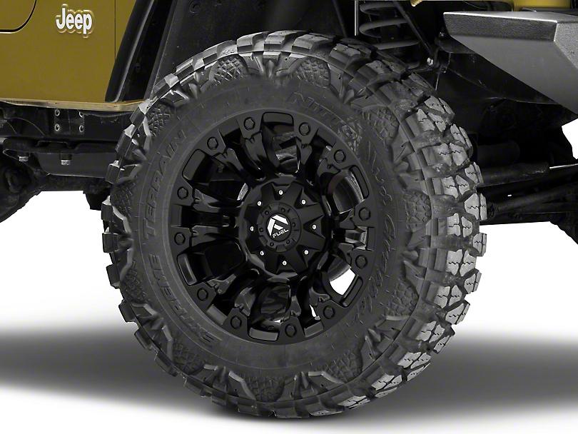 Fuel Wheels Vapor Matte Black Wheel - 18x9 (87-06 Jeep Wrangler YJ & TJ)